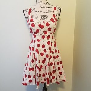Dresses & Skirts - Cherry-Print A-Line Dress